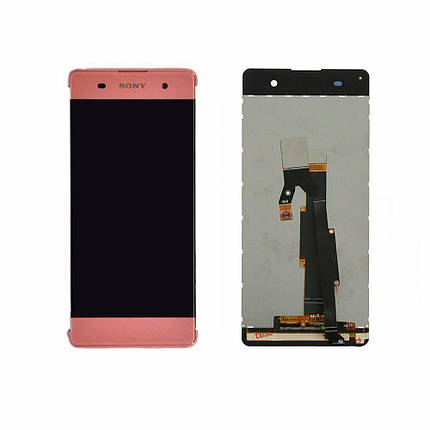 Дисплей (экран) для Sony F3111 Xperia XA с сенсором (тачскрином) розовый, фото 2
