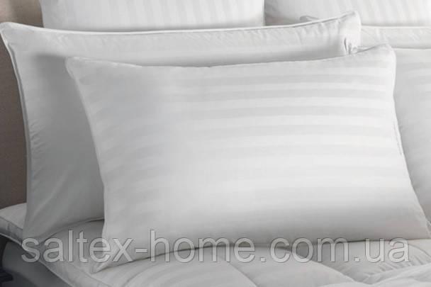 Наволочка из страйп сатина 60х60см, белого цвета, пр-во Турция