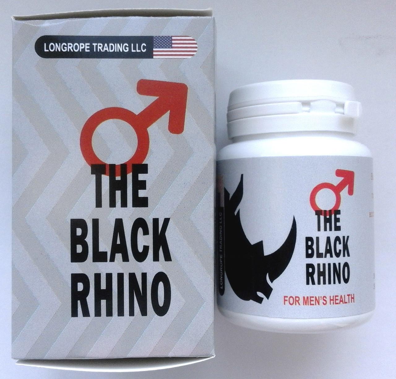 The Black Rhino - Капсулы для восстановления потенции и устранения её причины (Блэк Рино/Черный носорог)