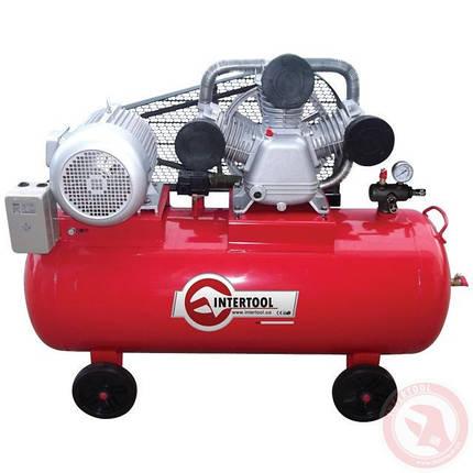 Компрессор 200 л, 10 HP, 7,5 кВт, 380 В, 8 атм, 1050 л/мин. 3 цилиндра INTERTOOL PT-0040, фото 2