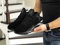 Мужские кроссовки демисезонные чёрные 8508, фото 1