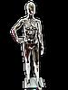 Манекен жіночий срібний глянцевий