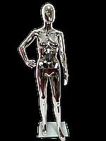 Манекен жіночий срібний глянцевий, фото 1