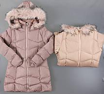 Куртка на меху для девочек F&D, 8-16 лет. {есть:14 лет,16 лет,8 лет}