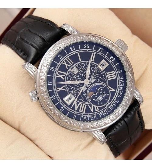 Мужские часы Patek Philippe Grand Complications 6002 Sky Moon, элитные часы Patek Philippe реплика ААА