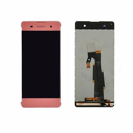 Дисплей (экран) для Sony F3116 Xperia XA Dual с сенсором (тачскрином) розовый Оригинал, фото 2