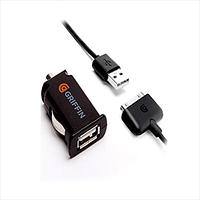 СЕТЕВОЕ + АВТОМОБИЛЬНОЕ ЗАРЯДНЫЕ УСТРОЙСТВА GRIFFIN GA23105, APPLE, IPHONE/IPAD 30-PIN, ЧЕРНЫЙ, 2.1А, 2 USB, 0