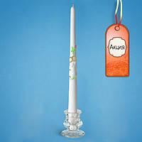 Тонкая свадебная свеча