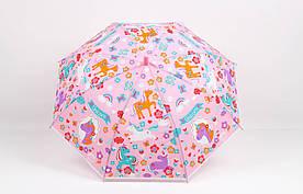 Детские зонты FAMO Зонт детский Единорог розовый Диаметр купола 114.0(см)/ Длина спицы 47.0(см)/ Длина в сложенном виде 66.0(см) (RST-082) #L/A