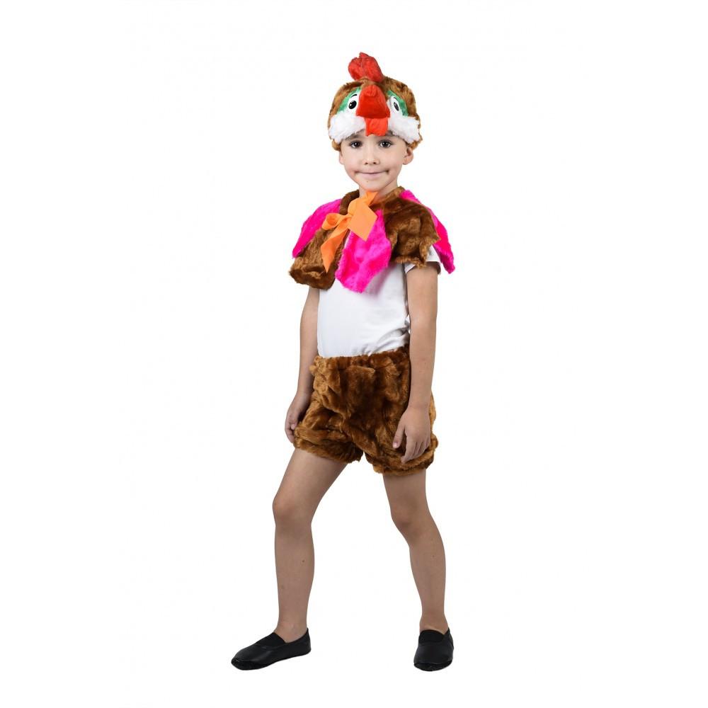 Карнавальный костюм Петушка с накидкой для мальчика
