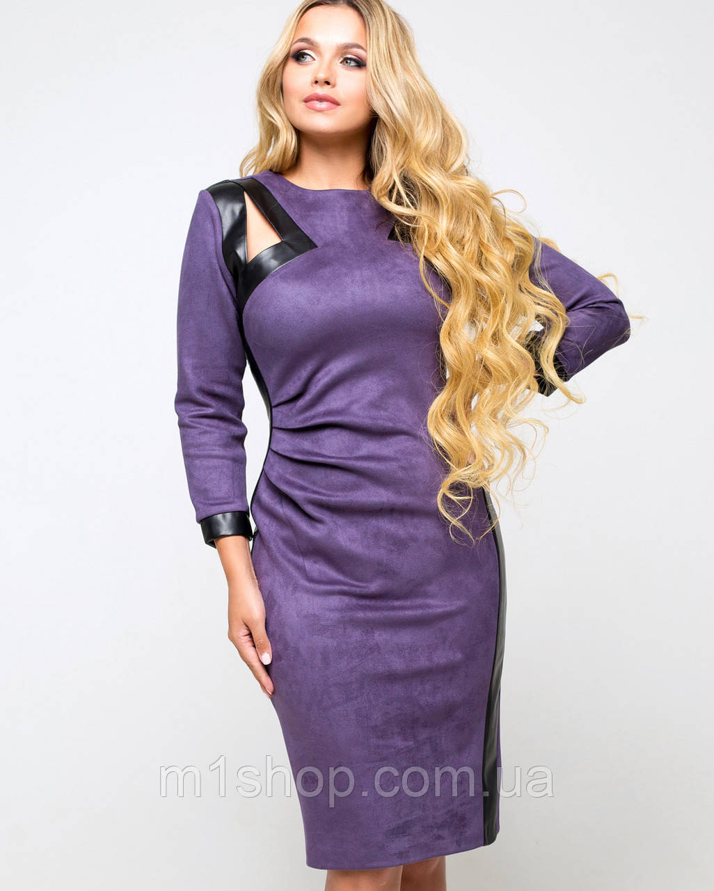 Женское замшевое фиолетовое платье (Соломия lzn)