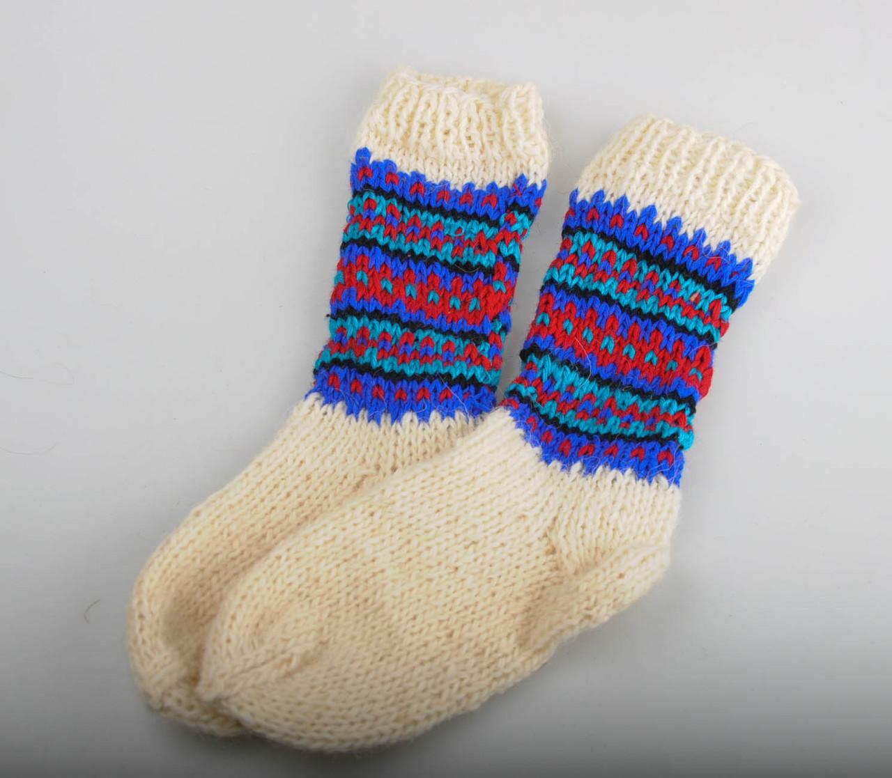 Вязаные носки, размер 18-22 см, фото 1