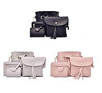 Женские сумки набор 4в1 цвет черный
