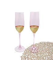 """Бокали для шампанського  """"Рожеве золото"""""""