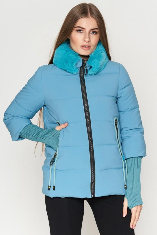 Женская куртка Braggart Kiro Tokao короткая зимняя теплая голубая размер 48 50 52 54