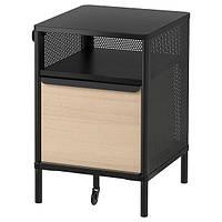 IKEA BEKANT, шкаф на ножках, сетка черный, 41x61 см, (692.823.99)