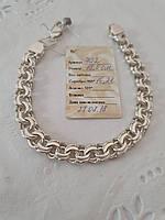 Срібний браслет з плетінням Бісмарк, фото 1
