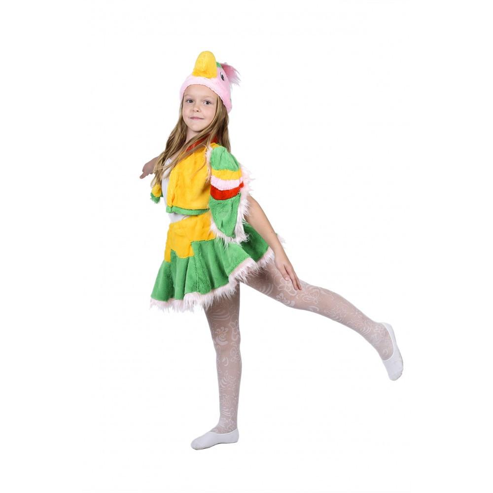 Маскарадный костюм Попугая для девочки от 3 до 7 лет
