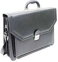 Большой мужской портфель из эко кожи AMO SST01 серый, фото 1