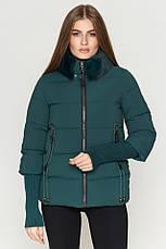Женская куртка Braggart Kiro Tokao короткая зимняя теплая синяя размер 48 50 52 54, фото 3
