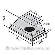 Вытяжка VENTOLUX PUNTO 60 (750) PB, фото 3