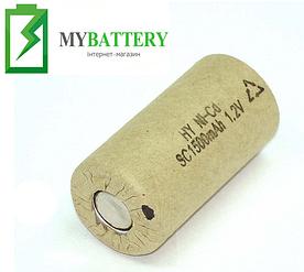 Аккумулятор для электроинструмента Ni-Cd SC 1.2V 1500mAh