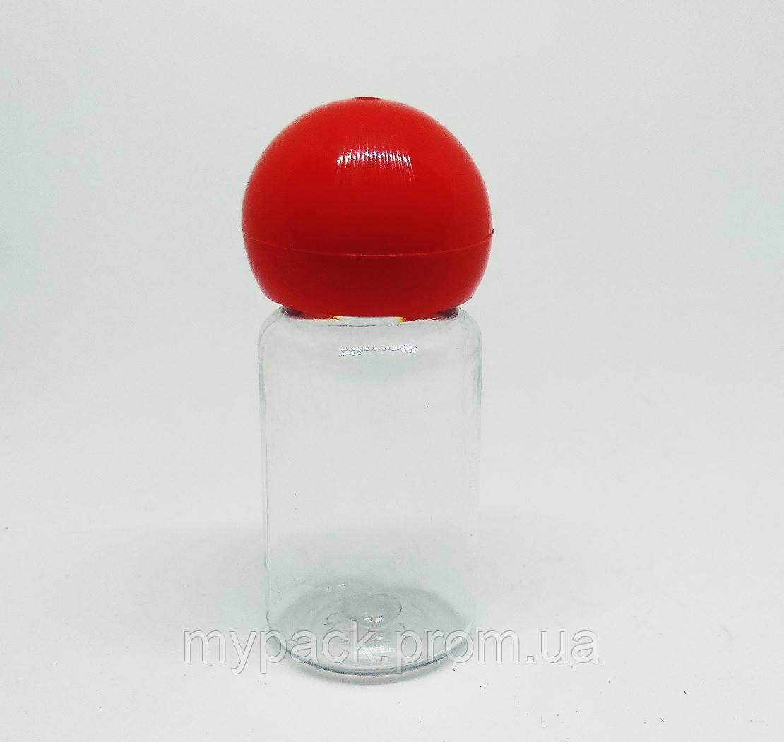ПЭТ Флакон Нео 10, 10мл + колпачек шарик красный - 100 шт