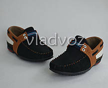 Детские мокасины туфли для мальчика коричневая полоска Kellaifeng 29р, фото 3