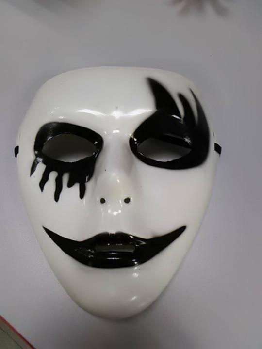 Маска карнавальная лицо мим