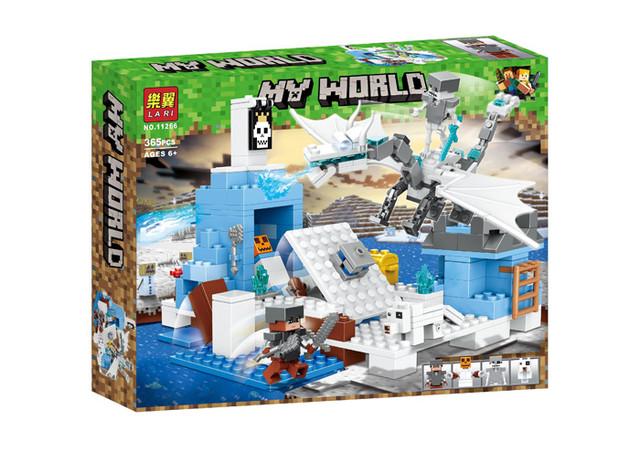 """Конструктор Lari (Bela) 11266 Minecraft """"Ледяной Дракон"""", 365 детали. Аналог Лего Майнкрафт"""