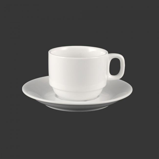 Чашка 300 мл с блюдцем HLS Extra white (W0286)