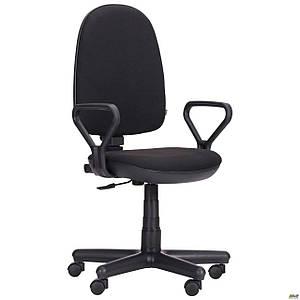 Офисное кресло АМФ Комфорт-Нью черное А-1 на колесиках