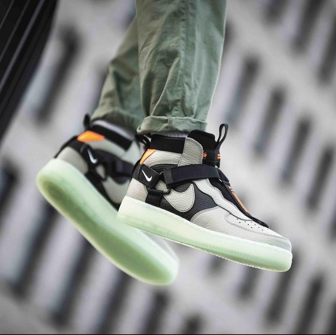 """Мужские кроссовки в стиле Nike Air Force Night """"Neon"""" ( в стиле Найк )"""