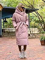 Женский Пальто с широким капюшоном
