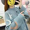 Оверсайз свитер со звездами и месяцем 44-48 (в расцветках), фото 4