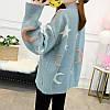 Оверсайз свитер со звездами и месяцем 44-48 (в расцветках), фото 5