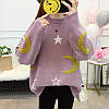 Оверсайз свитер со звездами и месяцем 44-48 (в расцветках), фото 3