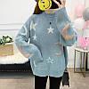 Оверсайз свитер со звездами и месяцем 44-48 (в расцветках), фото 2