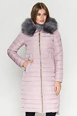 Женская куртка зимняя Braggart Kiro Tokao длинная теплая c капюшоном синяя размер 50 52 54 56 58, фото 2