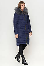 Женская куртка зимняя Braggart Kiro Tokao длинная теплая c капюшоном синяя размер 50 52 54 56 58, фото 3