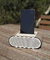 Держатель для телефон Настольная подставка Звуковая коробка Беспроводная колонка Еко подставка на природу