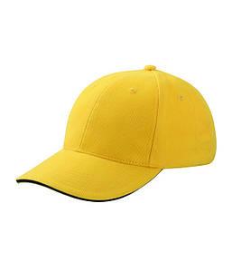 Бейсболка шестипанельная Жёлтый / Тёмно-Синий