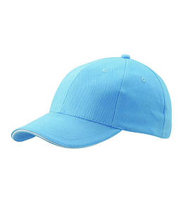 Бейсболка шестипанельная Светло-Голубой / Белый