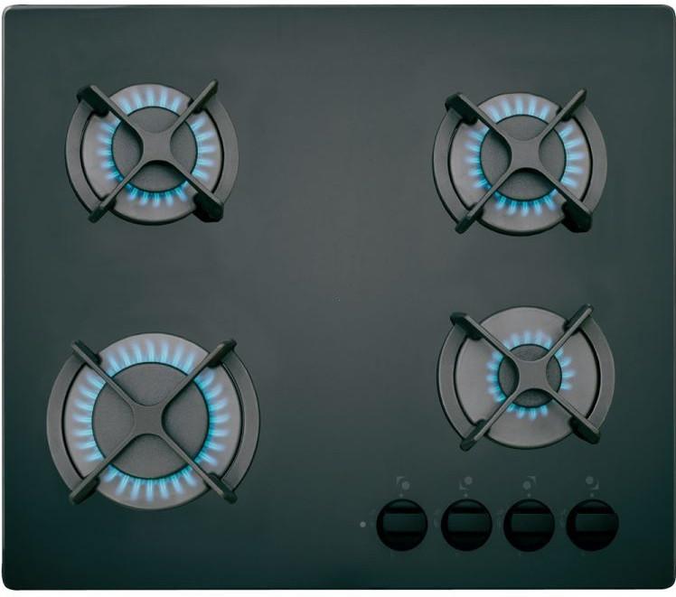 Газовая варочная поверхность черная TEKA HF LUX 60 4G AI AL BLACK