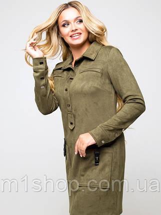 Женское замшевое платье-рубашка (Офелия lzn), фото 2