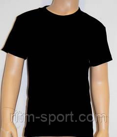 Футболка чорна з коротким рукавом