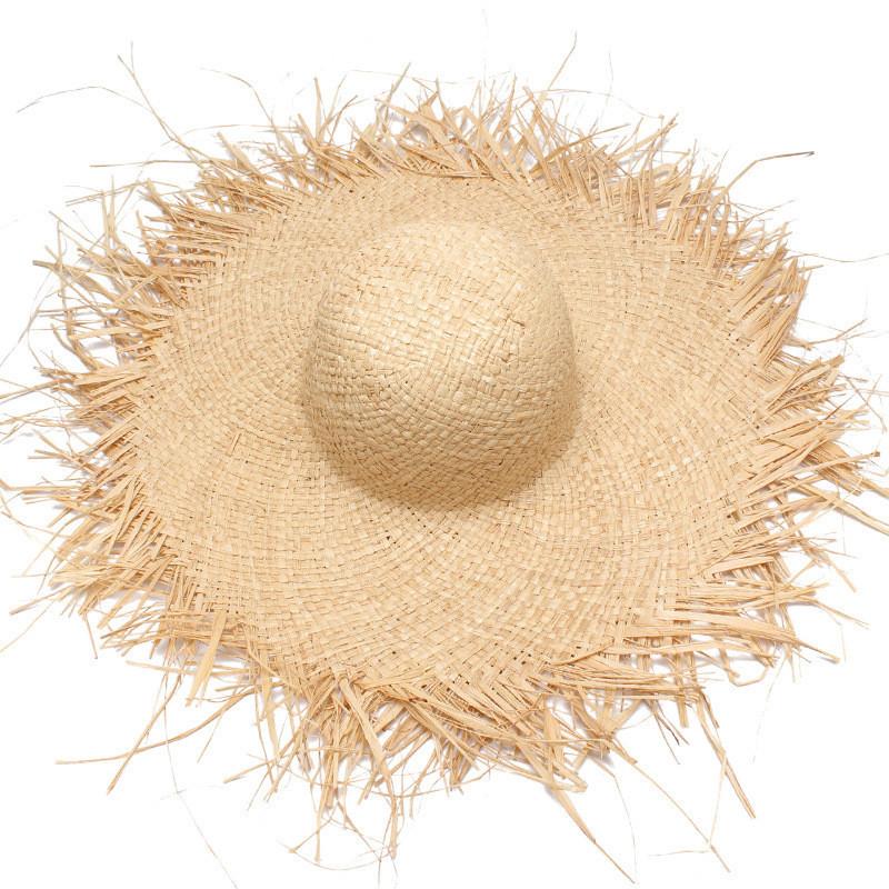 Соломенная плетенная пляжная шляпа с широкими полями, фото 1
