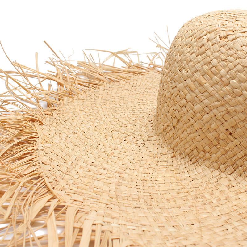 Соломенная плетенная пляжная шляпа с широкими полями, фото 2