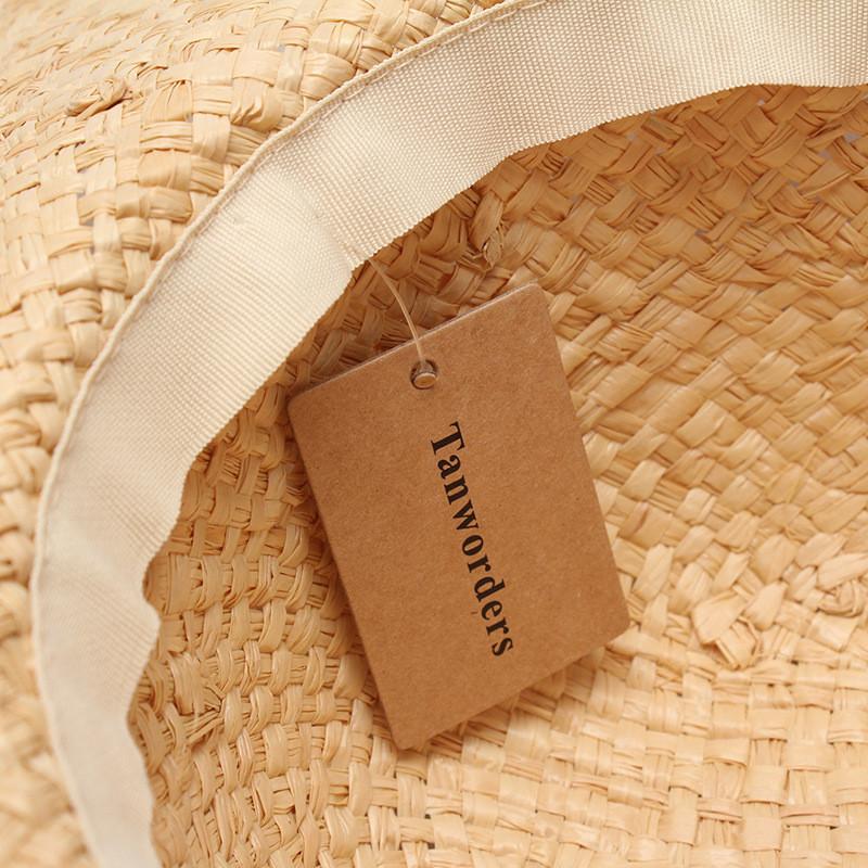 Соломенная плетенная пляжная шляпа с широкими полями, фото 4