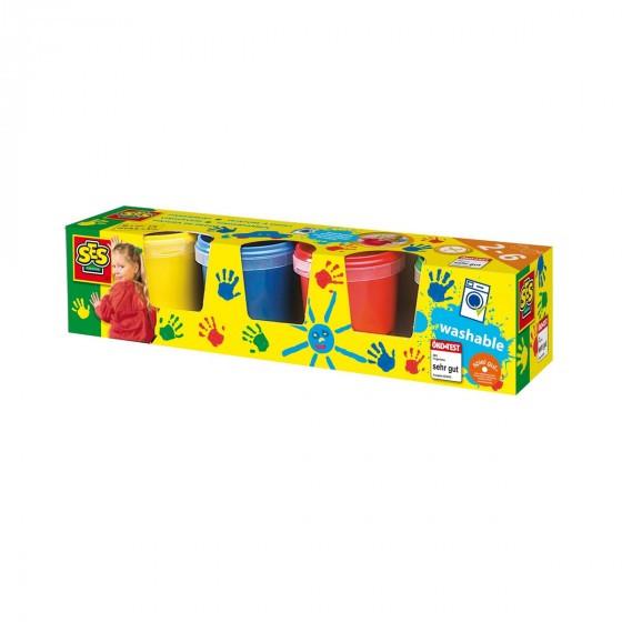 Пальчикові фарби - МОЇ ПЕРШІ МАЛЮНКИ (4 кольори, у пластикових баночках)